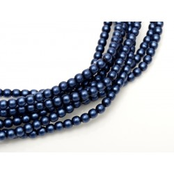 Glass Pearls  2 mm  Matted Egyptian Blue  - 50 pcs