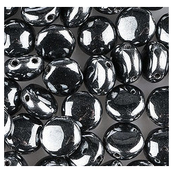Candy Beads  8  mm  Hematite  - 20 pcs
