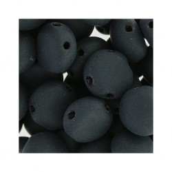 Candy Beads  8  mm  Jet Mat  - 20 pcs