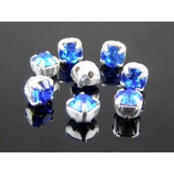 Chatons incastonati ss16  (3,8-4 mm)  Sapphire -  10 pz