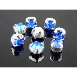Chatons with setting  ss16  (3,8-4 mm) Sapphire    -  10 pcs