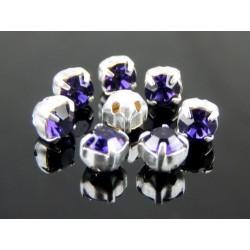 Chatons incastonati ss16  (3,8-4 mm)  Deep Tanzanite   -  10 pz