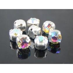 Chatons incastonati ss30  (6,4-6,60 mm)  Crystal AB  -  5 pz