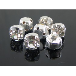 Chatons with setting ss30  (6,4-6,60 mm)  Crystal  -  5 pcs