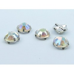 Extra Roses  (Roses Montées)  ss16  (3,8-4 mm)  Crystal AB  -  10 pz