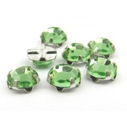 Extra Roses  (Roses Montées)  ss16  (3,8-4 mm)  Peridot  -  10 pz