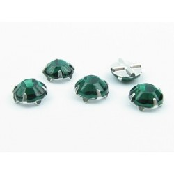 Extra Roses  (Roses Montées)  ss16  (3,8-4 mm)   Emerald    -  10 pz