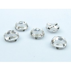 Extra Roses  (Roses Montées)  ss30  (6,4-6,60 mm)  Crystal   -  5 pcs
