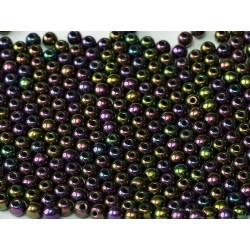 Perle Tonde in Vetro di Boemia  3 mm Iris Purple    - 50  Pz