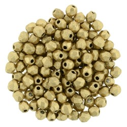 Fire Polished Faceted Round Beads  2 mm Matte Metallic Flax  - 50 pcs