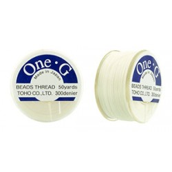 Toho One- G  Thread White - 1 Spool about   46 m
