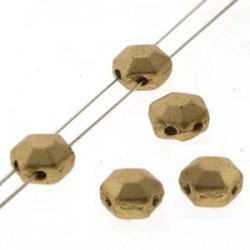 Honeycomb Jewel  6 mm  Bronze Pale Gold   -  20 Pcs