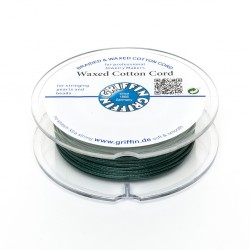 Waxed Cotton Cord Griffin Green 1,5 mm