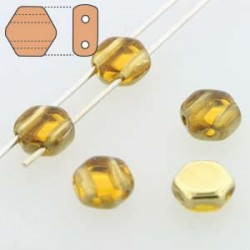Honeycomb 6 mm Topaz  Amber  - 20 Pcs