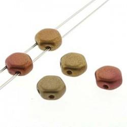 Honeycomb 6 mm Matte Metallic  Ancient  Gold   - 20 Pz