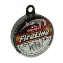 Fireline Thread  0.20 mm (10LB)  Crystal   - 1 Spool of  50 Yard