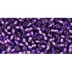 Rocailles Toho 11/0 Silver-Lined Purple
