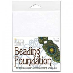 Beadsmith Beading Foundation  14 x 10 cm  White   - 4 pcs