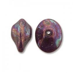 UFO Beads  7 x 11  mm  Chalk White Iris   -  10 pcs