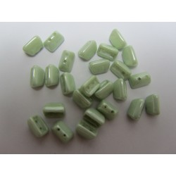 Roofy  Beads  5 x 8  mm Chalk Mint Luster    -  20 pz
