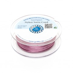 Cordoncino in Raso di Nylon Griffin Rosa Scuro 2 mm