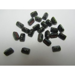 Roofy  Beads  5 x 8  mm Jet   Travertin  -  20 pz