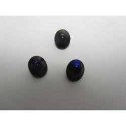 UFO Beads  7 x 11  mm  Jet Azuro   -  10 pcs