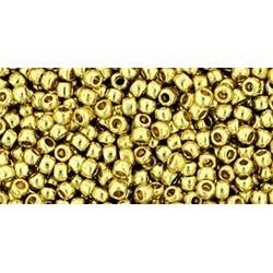 Rocailles Toho 11/0 Permanent Finish Galvanized Yellow Gold