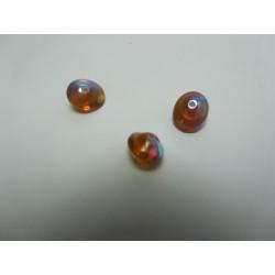 UFO Beads  7 x 11  mm  Dark Topaz AB   -  10 pcs