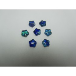Perle forma  Stella  8 mm  Blu  variegato - 10 pz