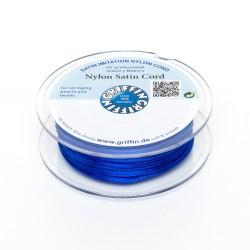 Cordoncino in Raso di Nylon Griffin Blu 2 mm