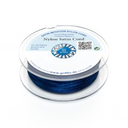 Nylon Satin Cord Griffin  Dark Blue 2 mm