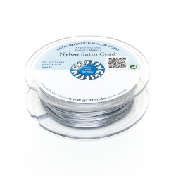 Nylon Satin Cord Griffin Grey 2 mm