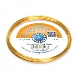 Filo di Rame Griffin Craft Wire  Placcato Oro - 0,8 mm - 6 m