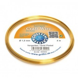 Filo di Rame Griffin Craft Wire  Placcato Oro - 1 mm - 4 m