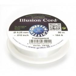 Filo Invisibile Illusion Cord Griffin 0,25 mm - Bobina 50 m