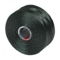 S-Lon Bead Cord AA  0.25 mm TEX 35  Dark Green   - 1 Spool  68 m