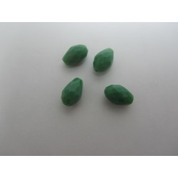 Gocce/Pere Sfaccettate 11x8 mm   Opaque  Turquoise Green   -  10 pz