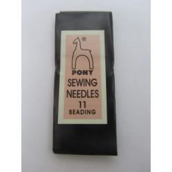 Pony Beading Needle Size 11, 53 mm - 25 pcs