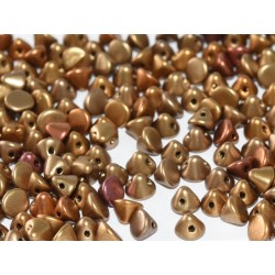 Perline Button Bead 4 mm Metallic Mix  -  20 Pz