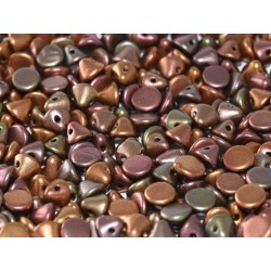 Perline Button Bead 4 mm Purple Iris Gold  -  20 Pz