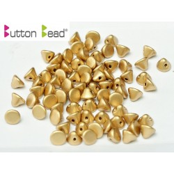 Perline Button Bead 4 mm Aztec  Gold  -  20 Pz