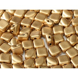 Silky Beads  6x6 mm  Aztec Gold  -  30 pcs