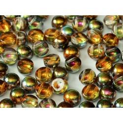 2-hole Cabochon 6 mm Crystal  Magic Copper -  10 pcs