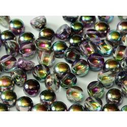 2-hole Cabochon 6 mm Crystal  Magic Purple  -  10 pcs