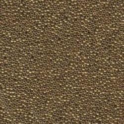 Miyuki Round Seed Beads  11/0 Metallic Light Bronze   - 10 g- code 0457L
