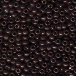 Miyuki Round Seed Beads  8/0  Opaque Chocolate   -  10 g- code 0409