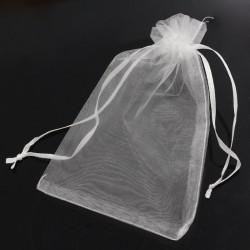 Organza Bags 10x15 cm  White - 10 pcs