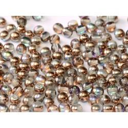 Perle Tonde in Vetro di Boemia  4 mm Crystal Copper Rainbow  - 50  Pz