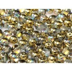 Perle Tonde in Vetro di Boemia  4 mm Crystal Golden Rainbow  - 50  Pz